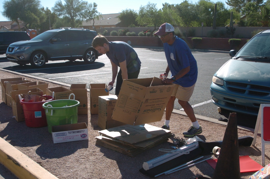 Getting Boxes Ready For Food For Shred-A-Thon