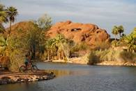 View of Red Rocks in Papago Park Arizona